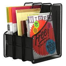 amazon com mesh metal document organizer rack file holder with