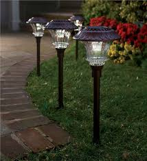 solar lights solar led path lights solar lighting plow hearth