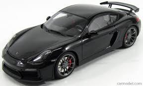 porsche coupe black gt spirit zm105 scale 1 18 porsche cayman gt4 coupe 2015 black met