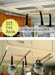 diy kitchen pot rack the frugal girls