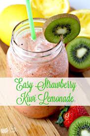 easy strawberry kiwi lemonade recipe