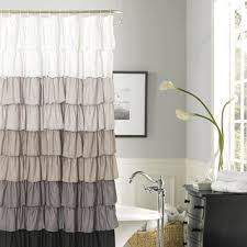 Silver And White Shower Curtain Shower Curtains U0026 Bathroom Curtains Linens N U0027 Things
