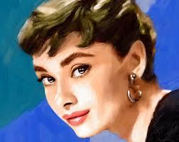 hepburn earrings hepburn print feminist gifts print girl power