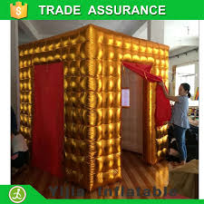 Inflatable Photo Booth Portable Gold Color Photo Booth Tent With Window Inflatable Photo