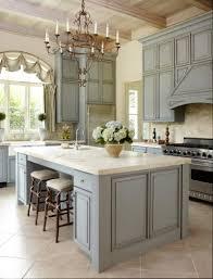 kitchen style french country kitchen light blue island base white