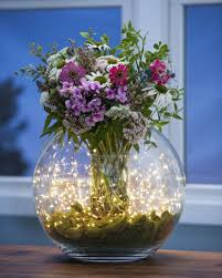 flower arrangements with lights fairy lights cascade curtain 10 strings of battery operated lights