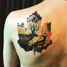 collection of 25 leaf tattoo