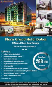 galaxy tourism offering hotel package for dubai of flora grand
