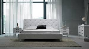 Black Modern Bed Frame Modern Leatherette 5 Piece Bedroom Set Monte Carlo White