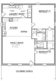 building plans images floor plan for a small house 1 150 sf with 3 bedrooms and 2 baths