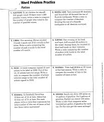multiplication story problems rates and ratio worksheets