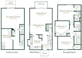 3 Bedroom Apartments Floor Plans 2 And 3 Bedroom Apartments In Novi Wexford Townhomes