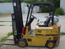 1995 caterpillar t50d forklift with sidesteer attachment cat fork