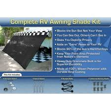 Rv Awnings Canada Rv Awning Shade Kit 8x14 Complete Rv Shade Kit Black Camp