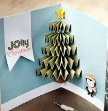 christmas tree pop up card no instructions here but the pic is