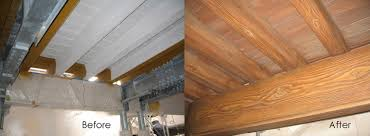 ceilings faux weathered wood finish painted on white surface