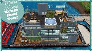 modern luxury house boat tour my design sims freeplay youtube
