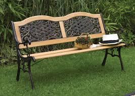 garden bench wrought iron and wood qkhwx cnxconsortium org