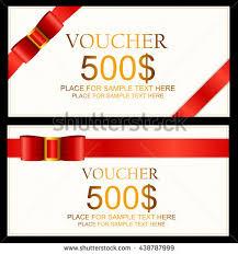 gift voucher samples gift voucher template set two gift stock vector 347114939