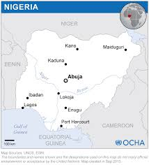 Nigeria On World Map by Nigeria Reliefweb