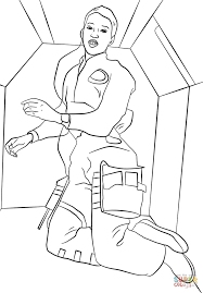 dr mae c jemison in space coloring page free printable