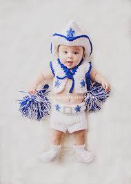 baby dallas cowboys cheerleader with pom poms