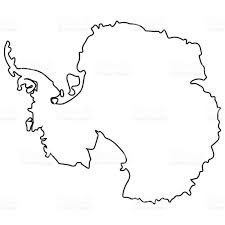 Map Of Antarctica Isolated Map Of Antartica Stock Vector Art 646207782 Istock