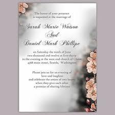 shop peach wedding invitation on wanelo