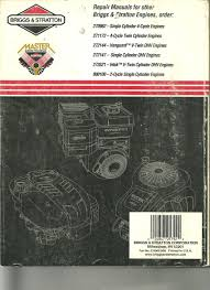28 274008 briggs and stratton repair manual 117427 genuine