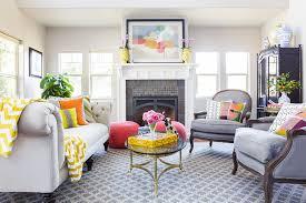 interior color schemes living room contemporary with gray rug gray