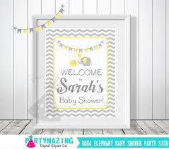 baby shower welcome sign elephant baby shower welcome sign personalized baby shower sign