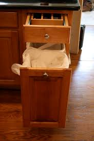 built in trash compactor trash compactor built into kitchen island new trash can cabinet
