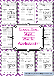 grade one sight words worksheets teaching resources blog
