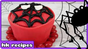 diy halloween spiderman cupcake recipe trick or treat happy