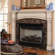 asian choi wood arched fireplace mantel surround brick anew