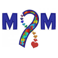 autism awareness ribbon with applique machine embroidery