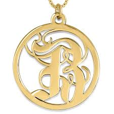 gothic designs namefactory old english initial pendant 24k gold plated