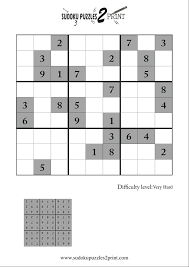hard sudoku puzzle to print 5