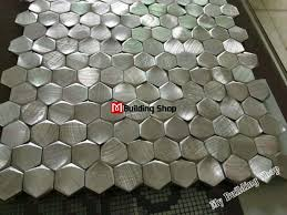 good metallic kitchen wall tiles part 3 silver metal mosaic