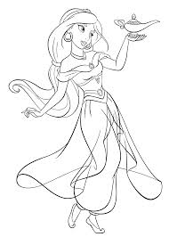 aladdin jasmine coloring pages printable images kids aim