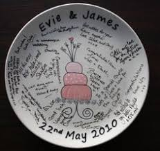 wedding signing plate wedding message plate diy painted plate with personalised theme