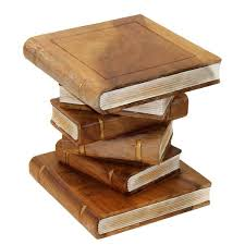 stacked books ornamental table medium