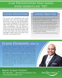 Dentist Description Elijah Desmond Perio Study Club Courses
