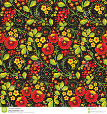 vintage halloween pattern background hohloma seamless pattern royalty free stock photo image 30503645