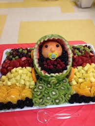 Fruit Decoration Ideas For Baby Shower Best 25 Baby Fruit Baskets Ideas On Pinterest Baby