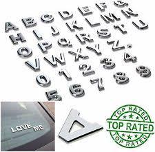 chrome car letters ebay
