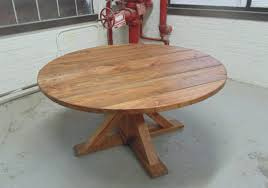 Handmade Kitchen Table by Washington Round Dining Table Reclaimed Wood Custom Handcrafted