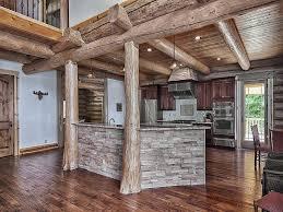 rustic kitchen with limestone tile u0026 raised panel in waynesville