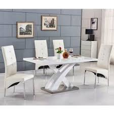 Black Dining Table White Chairs Tokyo White High Gloss Extending Dining Table And 6 Chairs Set