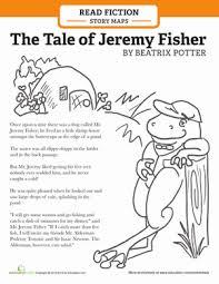 story map jeremy fisher worksheet education com